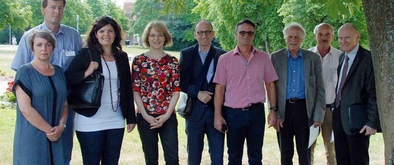 Drei Delegationen zu besuch in Wieslocher Massregelvollzugseinrichtung, August 2014